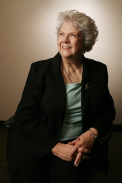 Professor Wilma Matthews sits for a portrait. Photo by Deanna Dent