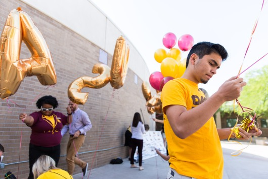 PHOENIX - April 26, 2016 - ASU Now - ASU National College Signing Day at ASU Preparatory Academy on Wednesday morning. Photo by Deanna Dent/ASU Now