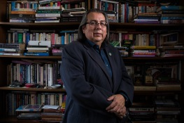 ASUNow - Dr. David Martinez - 4/16/2018 - Discovery Hall Dr. David Martinez poses for a portrait in his office at Discovery Hall on Tempe campus Monday morning on April 16th, 2018. Photo by Deanna Dent/ASUNow