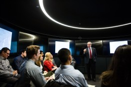 ASUNow - McCain Institute Gettysburg - 3/27/2018 General Benjamin Freakley talks to students about different tactics and directions civil war generals used during a preliminary meeting to discuss the civil war Wednesday afternoon March 27th, 2018 at the Barrett and O'Connor Center in Washington D.C. Photo by Deanna Dent/ASUNow
