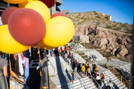 ASU Now - Innovation Day 2018 - November 16th, 2018 - Sun Devil Stadium **photo released or staff** Students and visitors line up for an Adidas ASU shirt during the first Innovation Day on Friday evening at Sun Devil Stadium November 16th, 2018. Photo by Deanna Dent/ASU Now